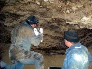 Сканирование стены георадаром VIY2-300